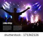 disco club. vector background