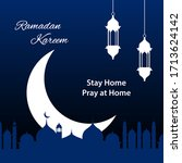 ramadan kareem background with... | Shutterstock .eps vector #1713624142
