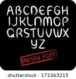 messy all caps font set   with...   Shutterstock .eps vector #171363215