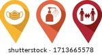 pin de gestes de barri re pour... | Shutterstock .eps vector #1713665578