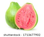 Isolated Green Guava. One Whol...