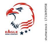 american eagle patriotic logo.... | Shutterstock . vector #1713690958