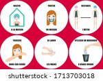 six illustrations and text ... | Shutterstock . vector #1713703018