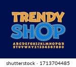 vector stylish logo trendy shop.... | Shutterstock .eps vector #1713704485