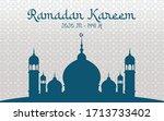 ramadan kareem greeting vector... | Shutterstock .eps vector #1713733402