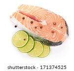 salmon and lime | Shutterstock . vector #171374525