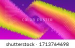 vibrant design. wave abstract... | Shutterstock .eps vector #1713764698