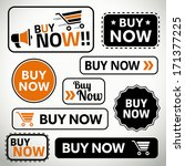quality set of buy now buttons... | Shutterstock .eps vector #171377225