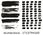 flat paint brush thin lines  ... | Shutterstock .eps vector #1713794185