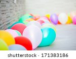 multicolored balloons... | Shutterstock . vector #171383186