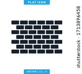 brick wall icon vector design...