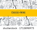 cheese and wine design template.... | Shutterstock .eps vector #1713898975