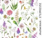 vintage watercolor summer... | Shutterstock . vector #1713902152