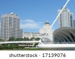 A  picture of modern buildings in Milwaukee - stock photo