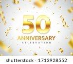 50th anniversary celebration.... | Shutterstock .eps vector #1713928552