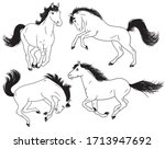 a set of black and white... | Shutterstock .eps vector #1713947692
