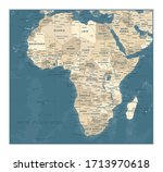 africa map   vintage detailed... | Shutterstock .eps vector #1713970618
