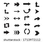 set of black vector arrows...   Shutterstock .eps vector #1713972112