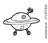cartoon flying saucer | Shutterstock .eps vector #171397832