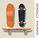 red skateboard from various...   Shutterstock .eps vector #1714036162