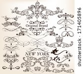 vector set of calligraphic... | Shutterstock .eps vector #171405896