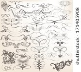 vector set of calligraphic... | Shutterstock .eps vector #171405908