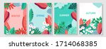 illustration set season element ... | Shutterstock .eps vector #1714068385