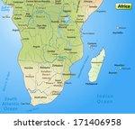 map of africa as an overview... | Shutterstock . vector #171406958