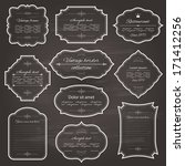 vintage frame set on chalkboard ... | Shutterstock .eps vector #171412256