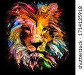 Animal Paint Series. Lion's...