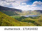 Mountain Peaks And Blue Sky In...