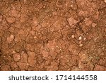 Texture Of Dried Cracked Clay....
