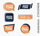 quick tips  helpful tricks... | Shutterstock .eps vector #1714154608