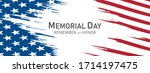 memorial day in the united... | Shutterstock .eps vector #1714197475