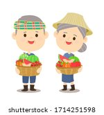 cartoon  thai farmer have... | Shutterstock .eps vector #1714251598