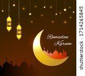 ramadan kareem festive... | Shutterstock .eps vector #1714265845
