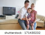 happy young family with kids in ... | Shutterstock . vector #171430232