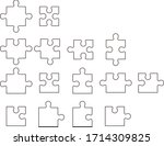puzzle  pieces isolated vector... | Shutterstock .eps vector #1714309825