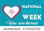 national nurses week begins... | Shutterstock .eps vector #1714313722