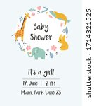 baby shower  birthday... | Shutterstock .eps vector #1714321525