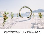 Wedding Arch Reception With Sea ...