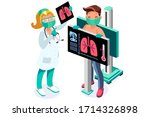 clinic of medical health  woman ... | Shutterstock .eps vector #1714326898