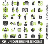 set of 36 business icons. | Shutterstock .eps vector #171439028