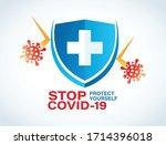 coronavirus protection vector... | Shutterstock .eps vector #1714396018