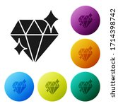black diamond icon isolated on... | Shutterstock .eps vector #1714398742