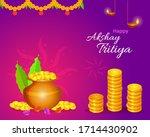 happy akshay tritiya festival... | Shutterstock .eps vector #1714430902