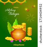 happy akshay tritiya festival... | Shutterstock .eps vector #1714434952