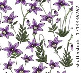 Floral Seamless Pattern Of Han...