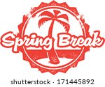vintage spring break vacation... | Shutterstock .eps vector #171445892