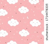 Seamless Pattern Of The Pink...